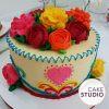 Bolo Bordado Mexicano. Feito por Cake Studio ( contato@cakestudio.com.br | Whatsapp: (11) 96882-2623 )