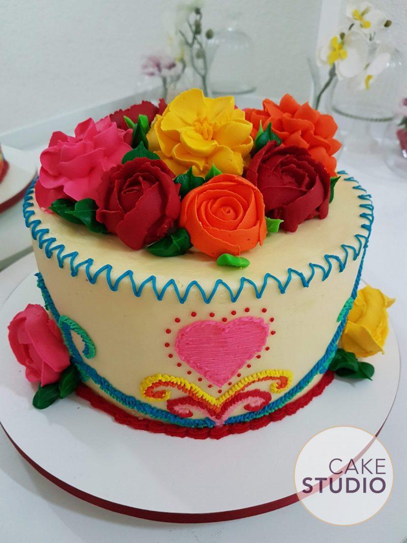 Bolo Bordado Mexicano Cake Studio