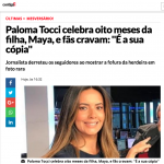 Matéria na Contigo com Bolo Carnaval para mesversário da filha da Paloma Tocci. Feito por Cake Studio ( contato@cakestudio.com.br | Whatsapp: (11) 96882-2623 )