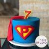 Bolo Super-Homem para mesversário do filho de Patrícia Costa. Feito por Cake Studio ( contato@cakestudio.com.br | Whatsapp: (11) 96882-2623 ).
